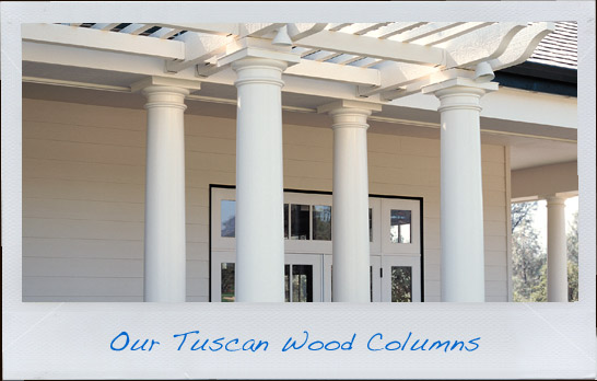 Wood Tuscan Columns